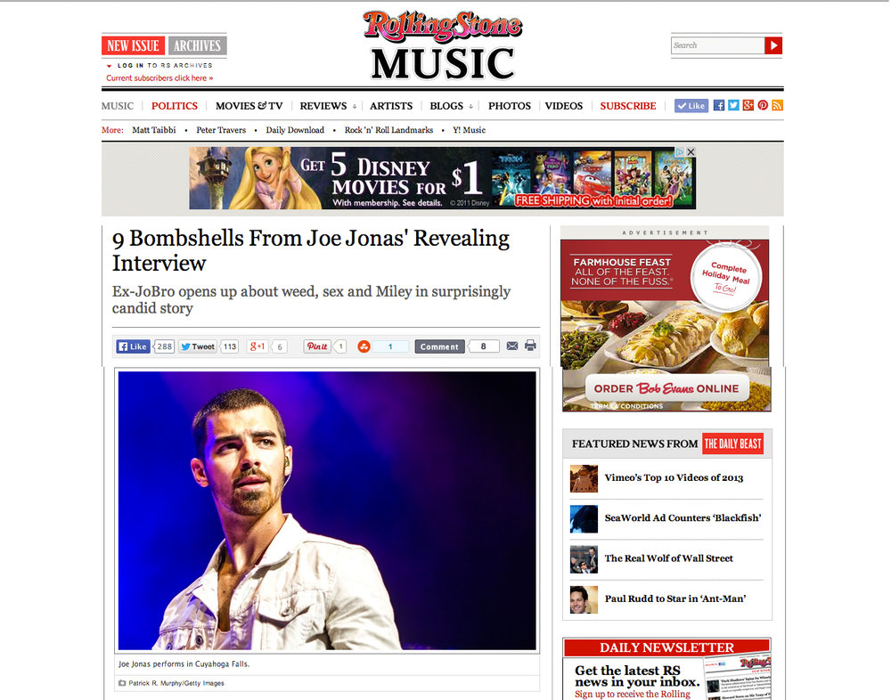 Joe Jonas-Rolling Stone
