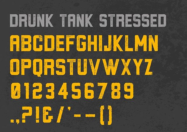 New typeface coming soon - Drunk Tank. Inspired by The Pogues & The Mighty Mighty Bosstones.  Perfect for beer & spirit labels and vintage poster designs #grafiktype