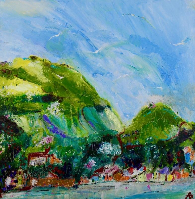 Water's Edge, acrylic on canvas, 35 x 35 cm