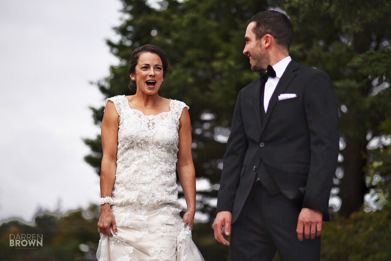 bride sees groom for first time reaction