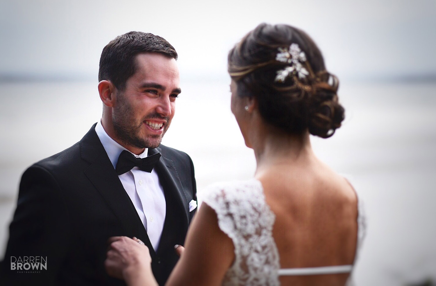 groom sees bride for first time reaction