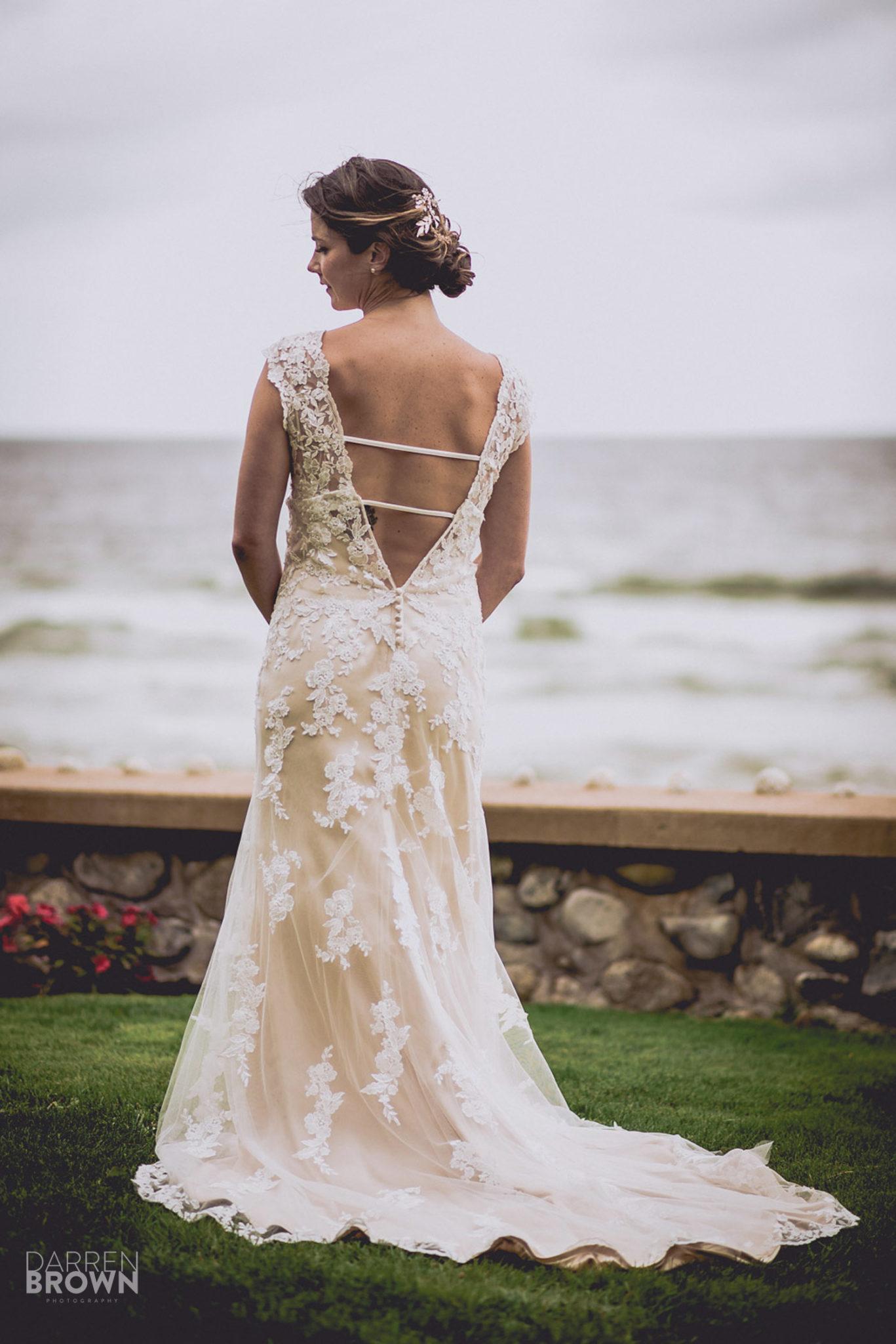 back wedding dress detail