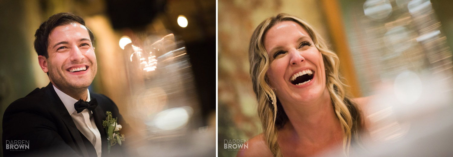 bride and groom laugh during ottawa wedding at Zibi
