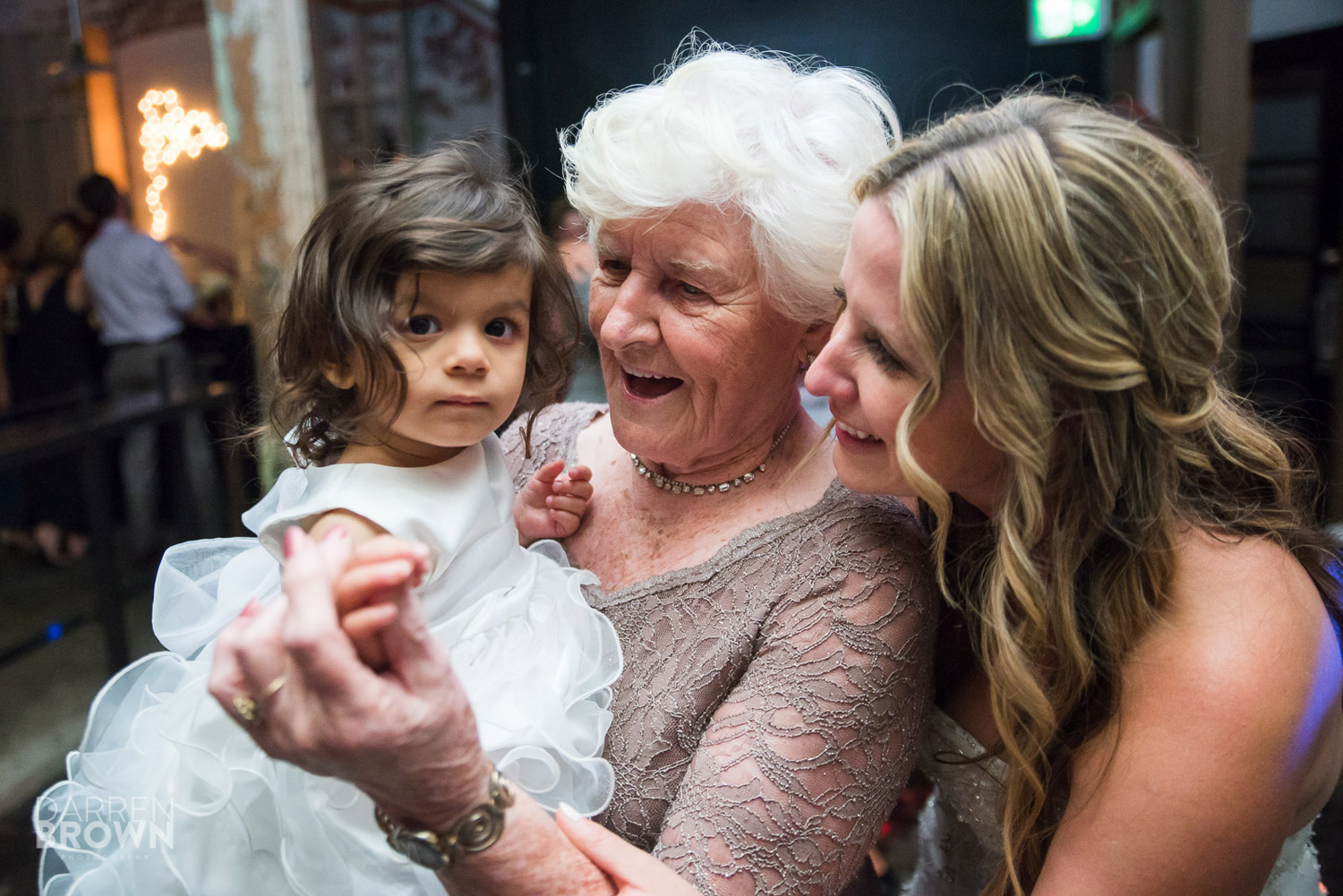 three generations dance at ottawa wedding reception at Zibi