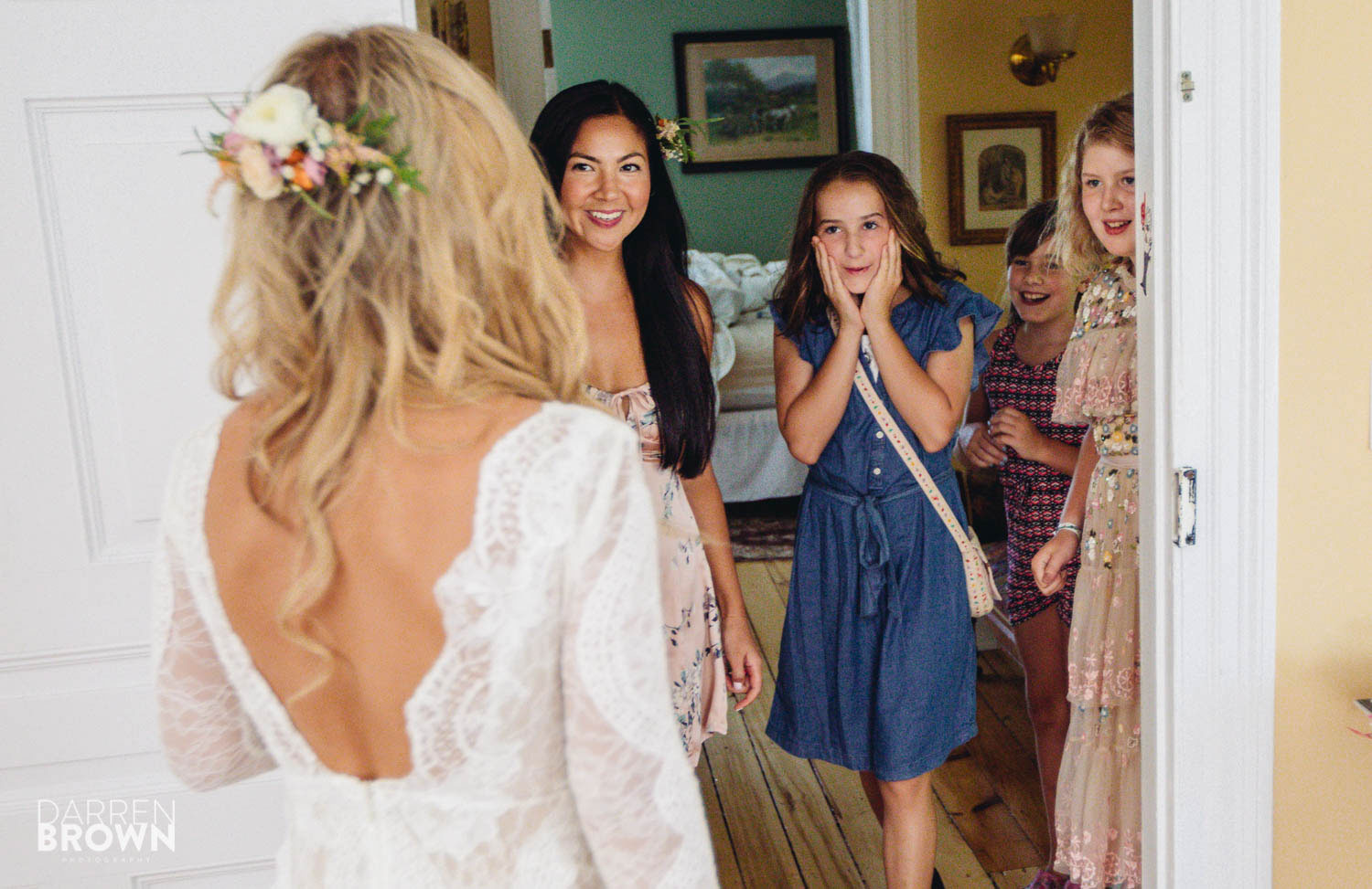 reaction to bride dress