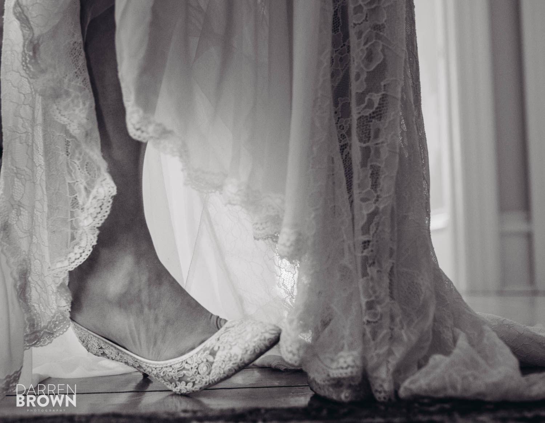 bride shoes detail photo