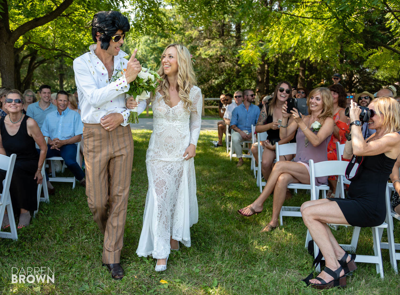 elvis impersonator at wedding