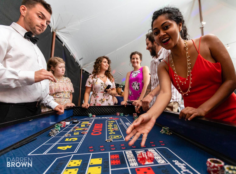 full house casino rentals at ottawa wedding reception