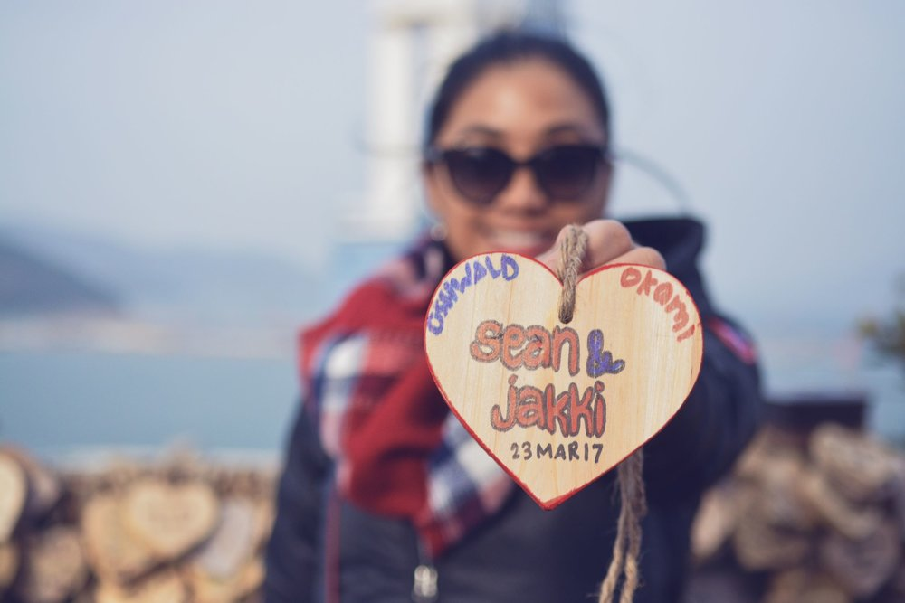 Leaving our wishes for a stronger love everywhere we go - Yeosu, Korea