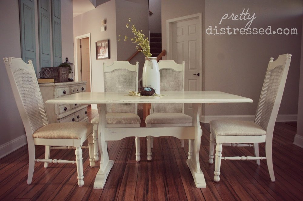 Painted kitchen table