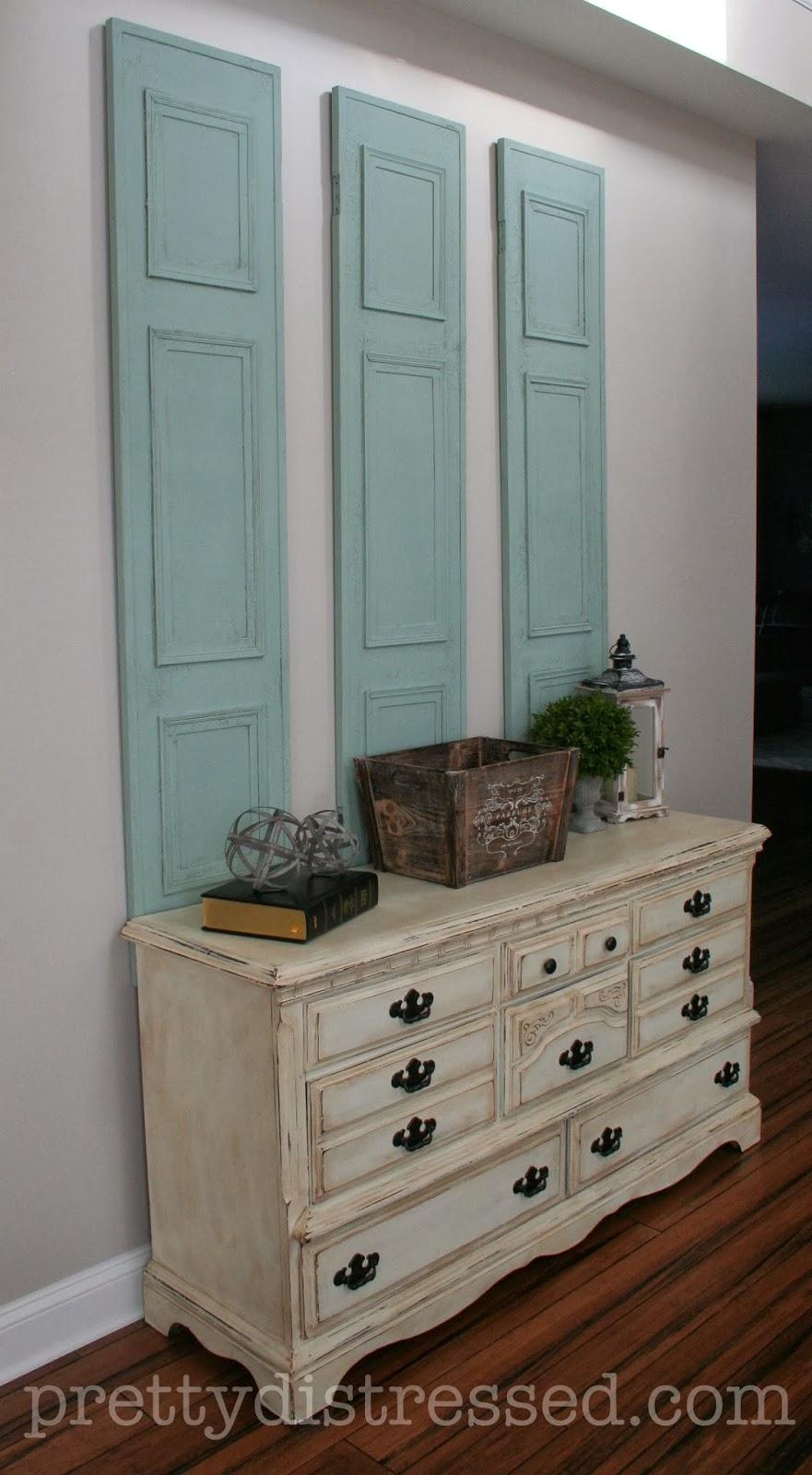chalk paint dresser shutters