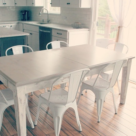 Refinishing Kitchen Table with Chalk Paint and Stain ...