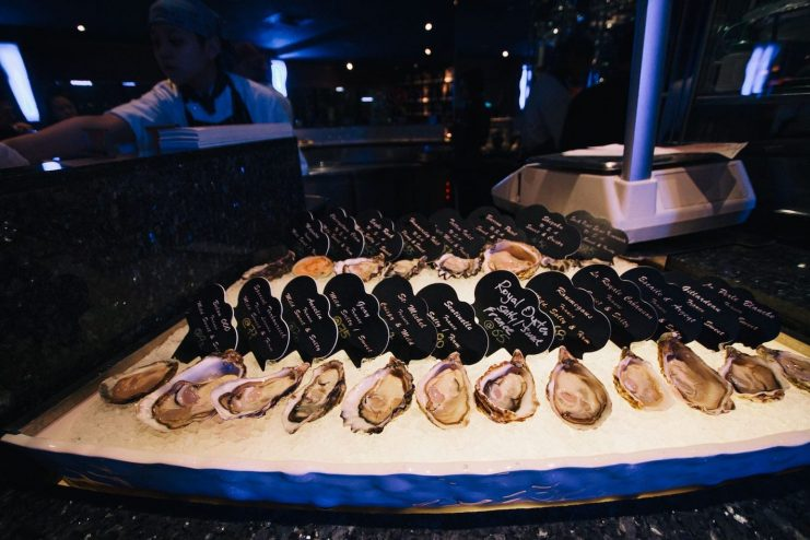 Array of Oysters in Sheraton Hong Kong