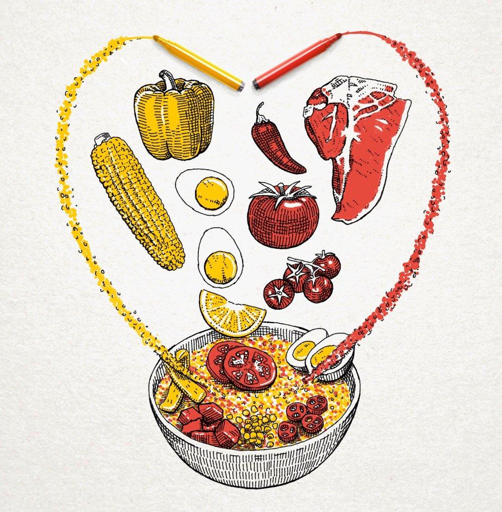 - Advertisement for Spanish rice company Brillante's new quinoa blend. Produced in partnership with art magazine Yorokobu.