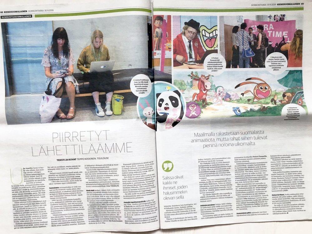 Sunnuntaisuomalainen Newspaper , text and photographs by Teppo Koskinen