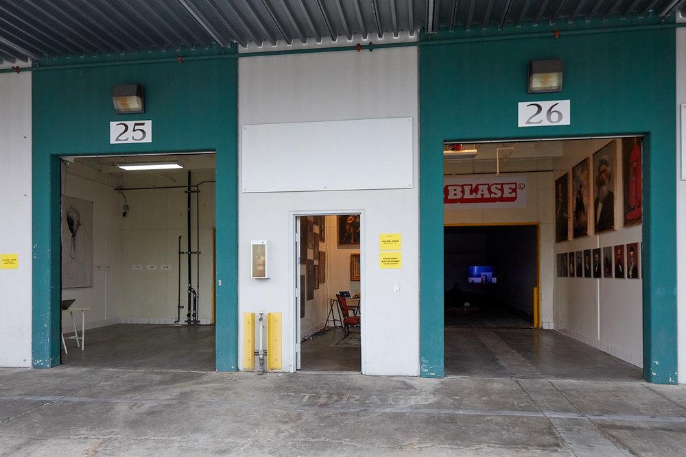 Installation view, Clara Montoya & Nicholas Woods (Unit 25) and Blase (Unit 26)