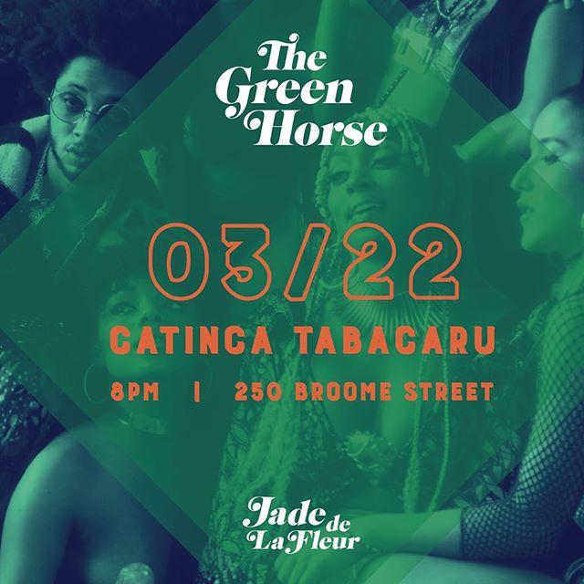 This Friday 3/22 @catincatabacaru 8pm #THEGREENHORSE 🐎