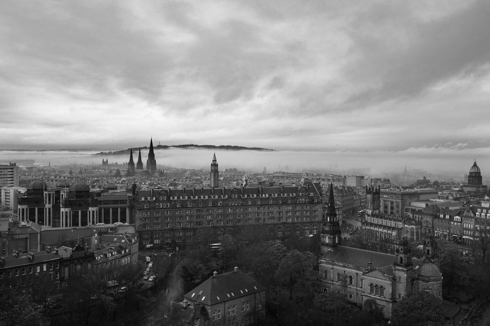 View from Edinburgh Caste, Scotland