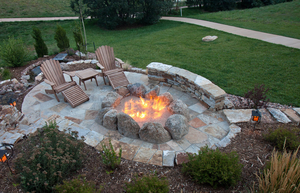 Gas Fire Pit with Seating