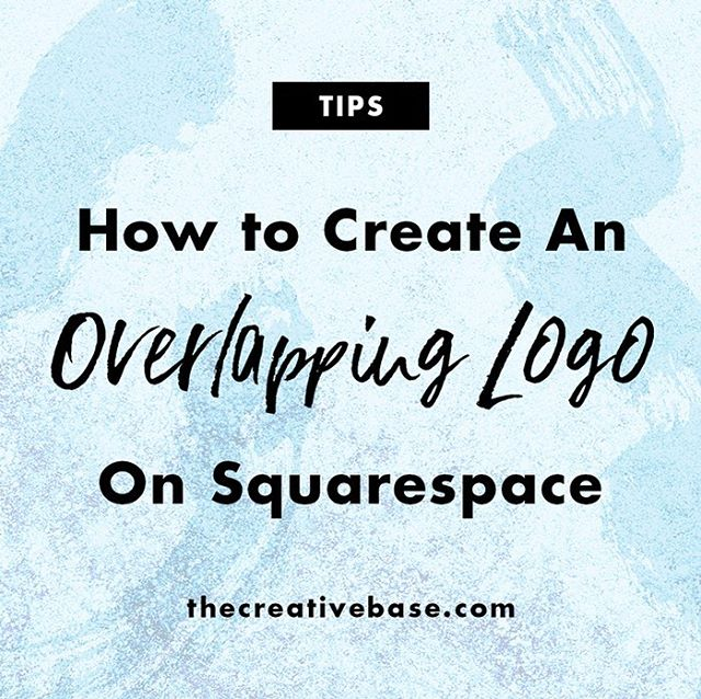 ✨ Want an Overlapping Logo on your Squarespace Site? ✨  Of course you do! They're pretty and add extra sophistication to your website. Check out my new blog post with a video tutorial to learn how! Enjoy ☺️ Link in bio!