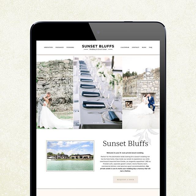 Happy launch day to @sunset_bluffs and their new website! This redesign has been such a labor of love and possibly one of my favorite redesigns! Scroll for a full look at the homepage and check out the full site at www.sunsetbluffs.com