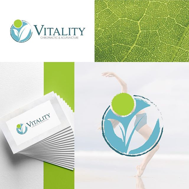 "Spending some time making some much needed additions to my portfolio. It's been great getting to revisit these lovelies. I'll be sharing more soon!  In the meantime, here is one of my favorite branding projects for Vitality Chiropractic + Acupuncture 🌿  Client feedback: ""I've had Danielle do two different logos for me and they are both amazing! She works with you to make sure you get the final product you really want and one that you love."""