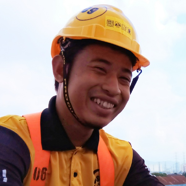 MEET BOY (BAHAROM) - An Orang Asli youth from Pahang, he joined SOLS as a student in 2012. After 18 months of training in English, character development, solar energy and environmental science, he is now working as one of our key technical staff in SOLS Energy as a certified solar lead installer. With his knowledge and practical skills, Boy now has the opportunity of working in the renewable energy industry, further developing himself, and achieving a better future.