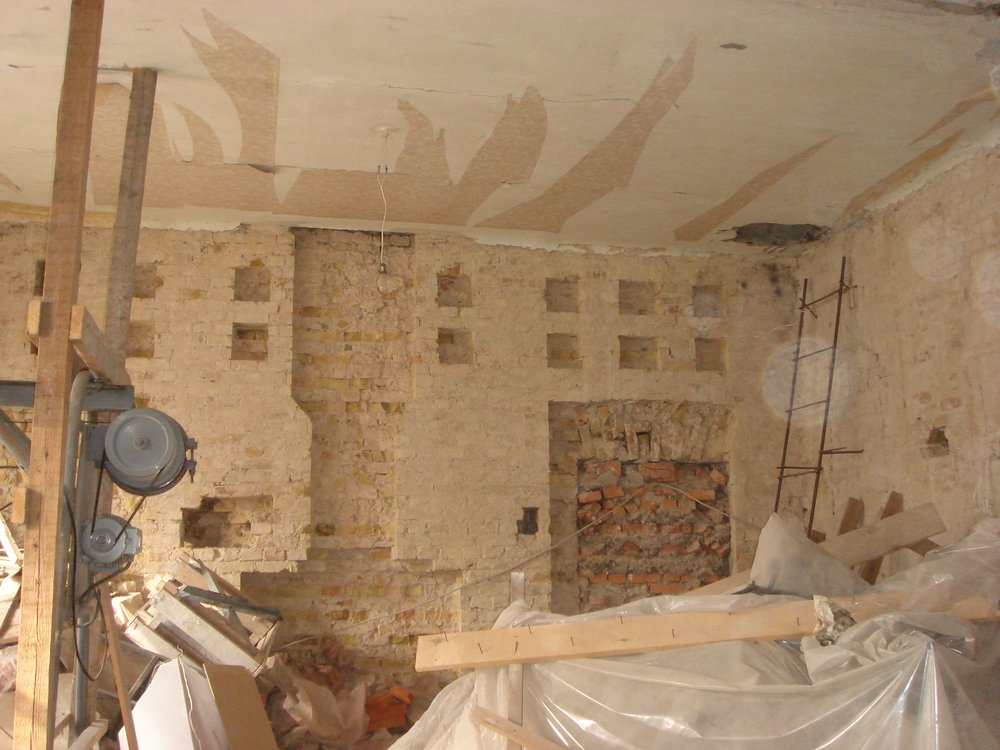 Fireplace and Hole for Stairs under Construction-min.jpg