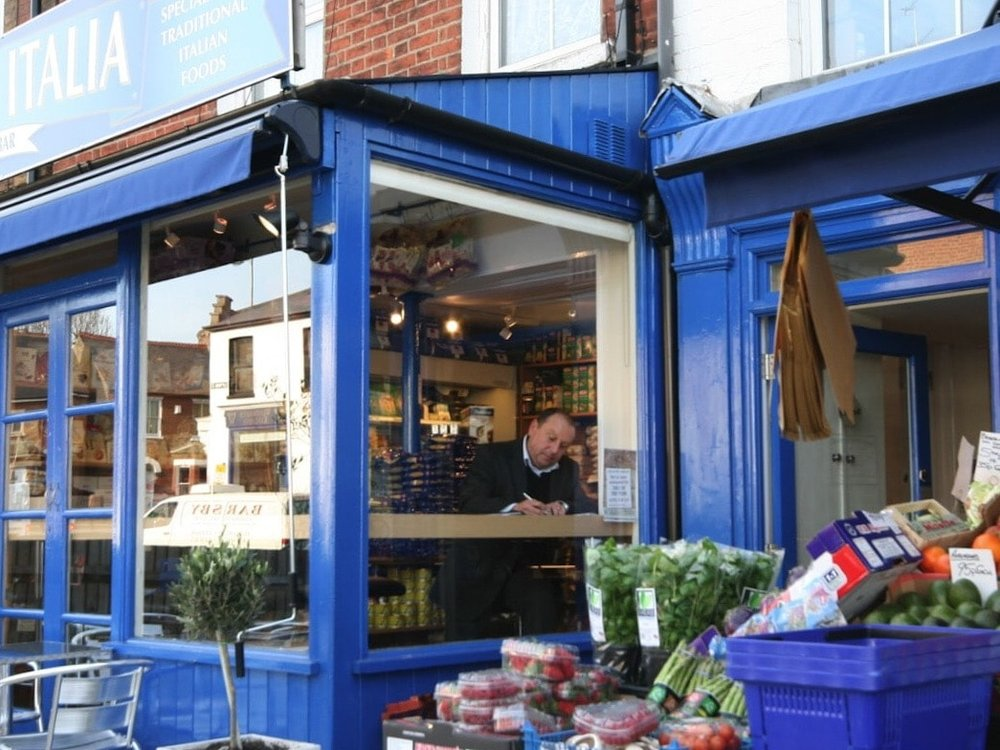 Italian Deli - Was a tattoo parlour & sandwich shop – now an award winning Italian Deli that serves the best cappuccino in town! The project won St Albans' Civic Society Award for interior design.See more >