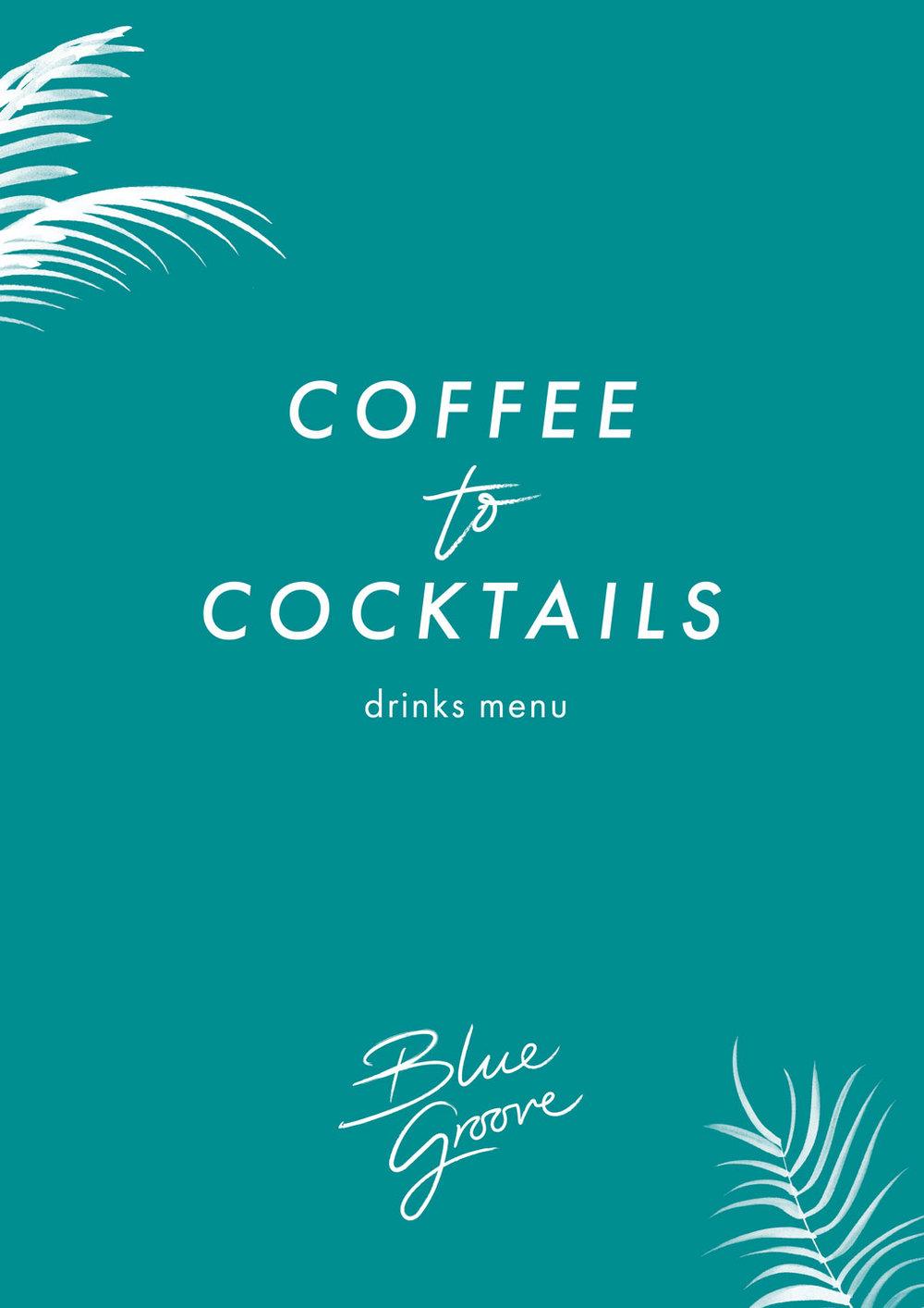 Blue Groove Drinks menu