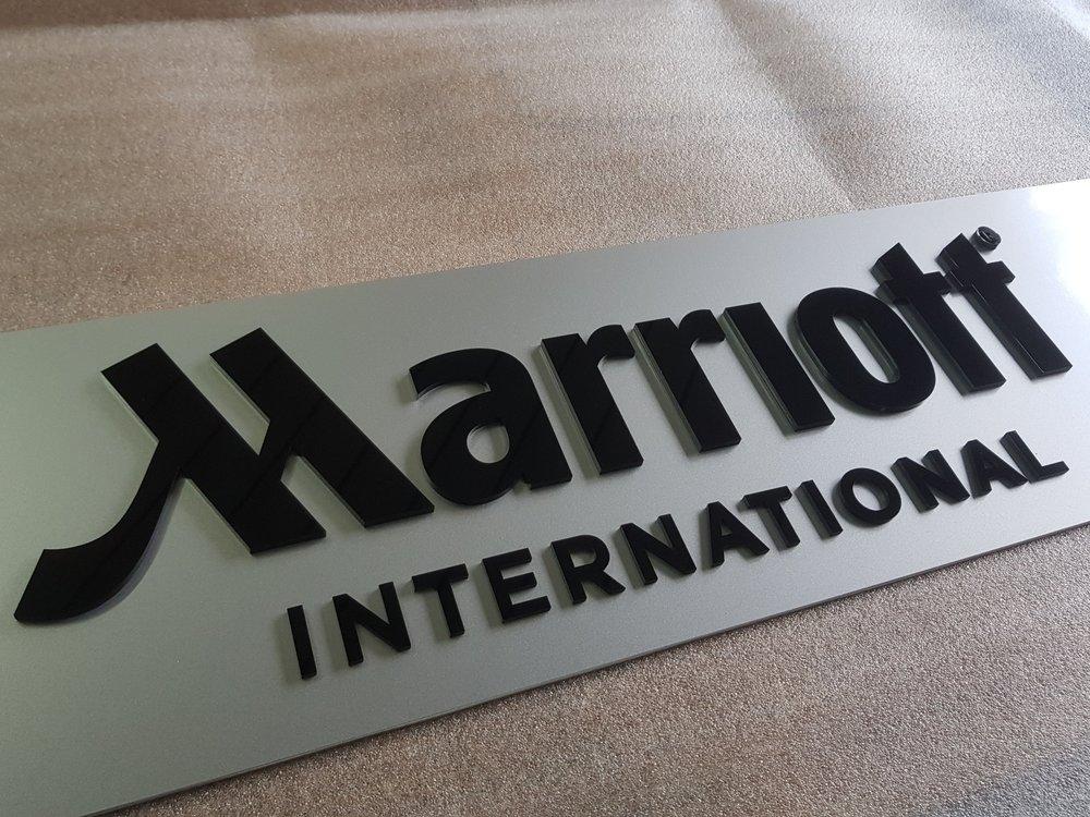 3D-Schrift Marriott