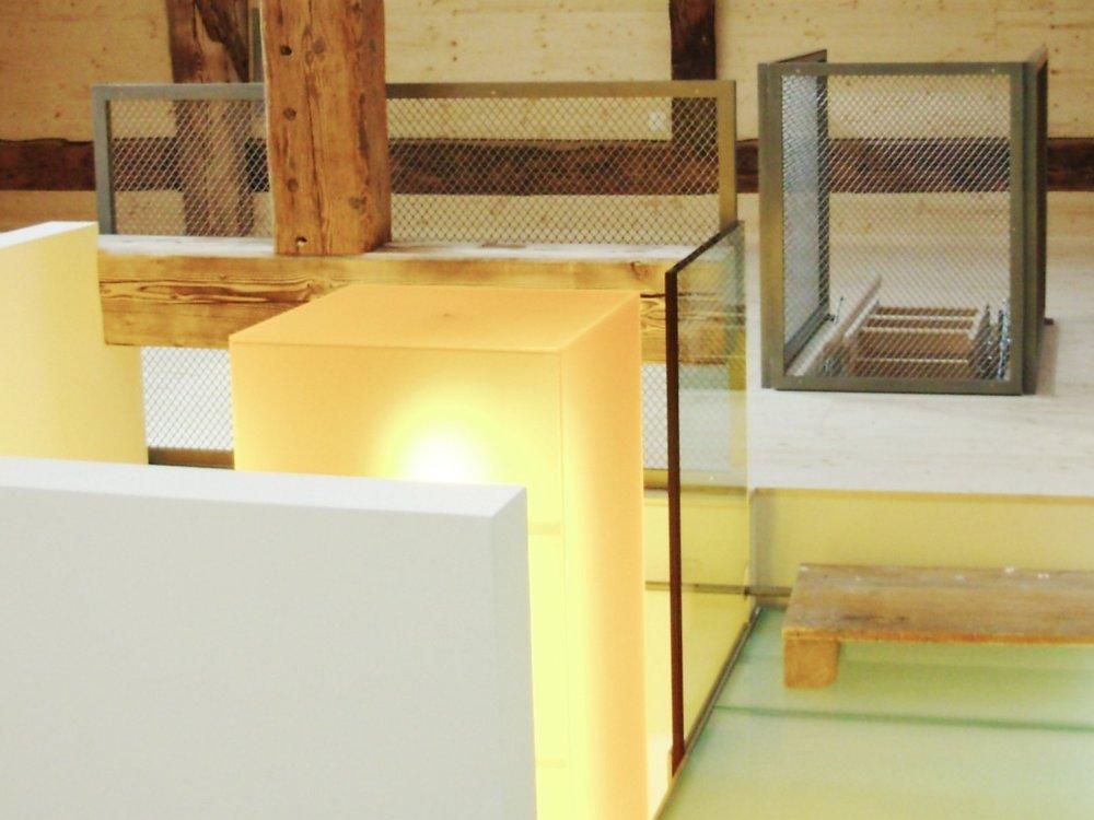 Lichtsäule im Treppenhaus