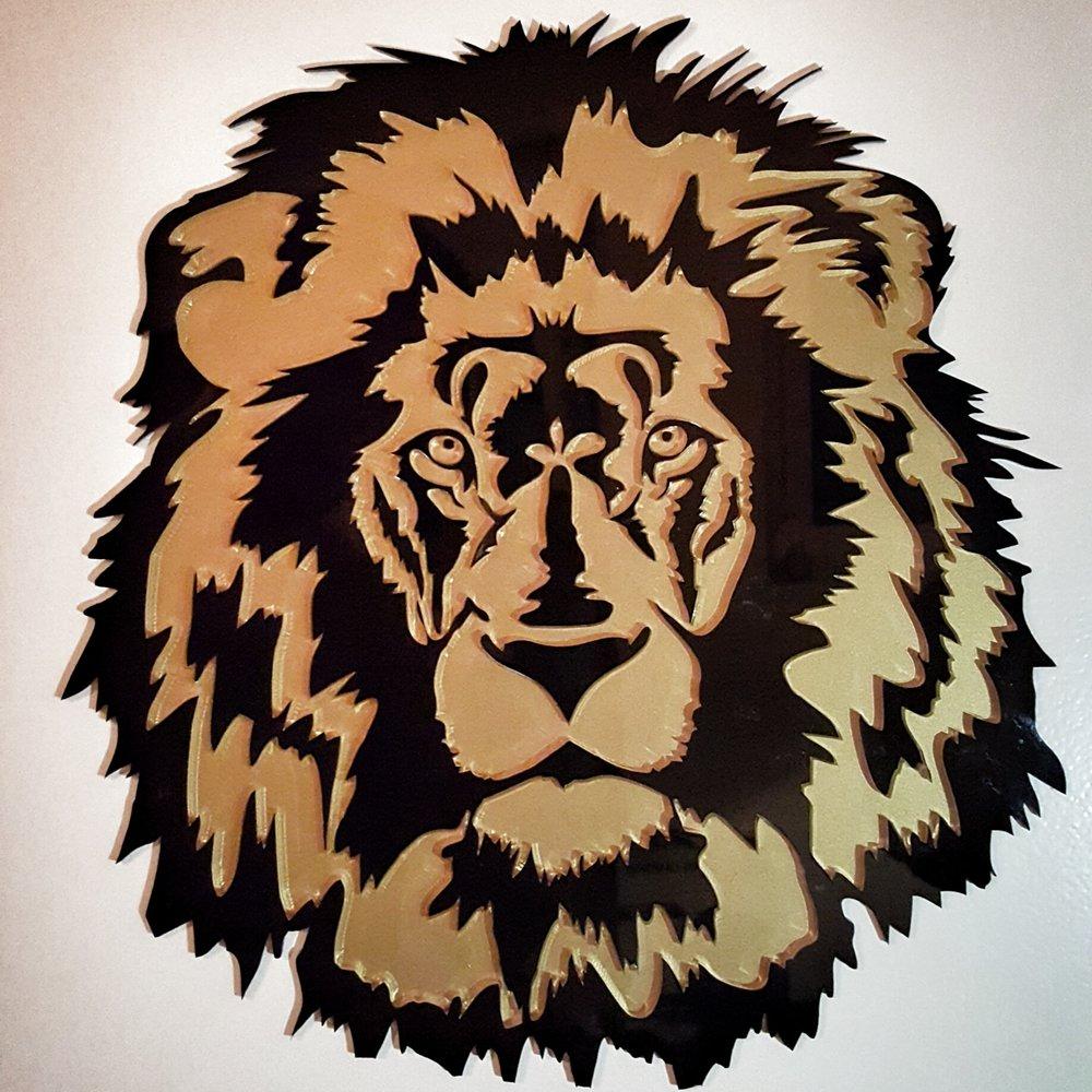 Acrylglas Löwe