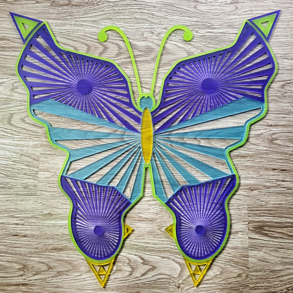 Schmetterling aus Acrylglas