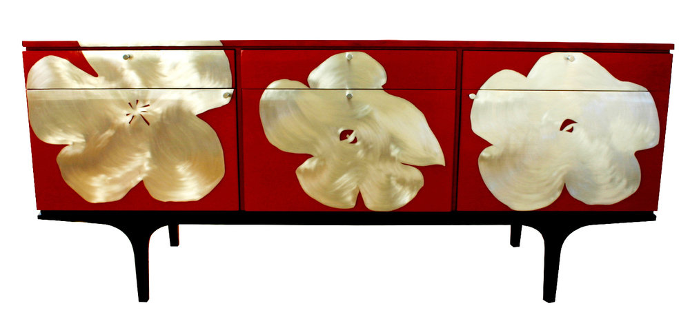 'Poppy' Sideboard red