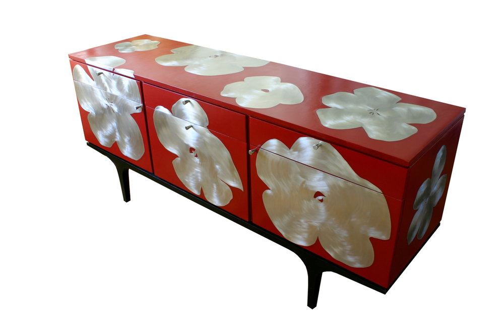 'Poppy' Sideboard, red