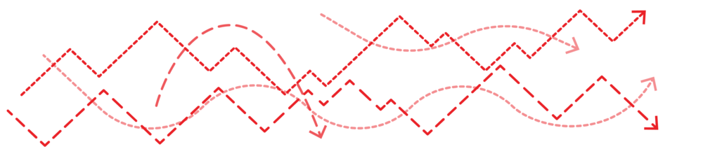 graphic depicting unlabelled dotted line graphs