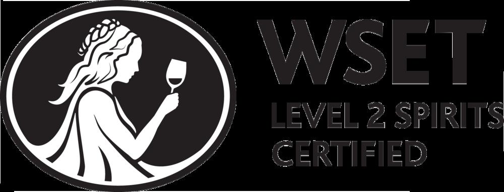 WSET Level 2 Spirit Certified logo