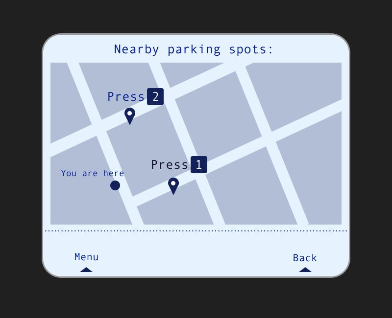 New screen #2 offers parking alternatives -