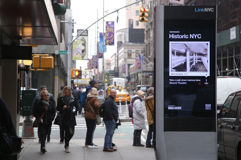 LinK NYC - Our mapping software powers technologies across the city, like LinkNYC kiosks, with location-based historical content.