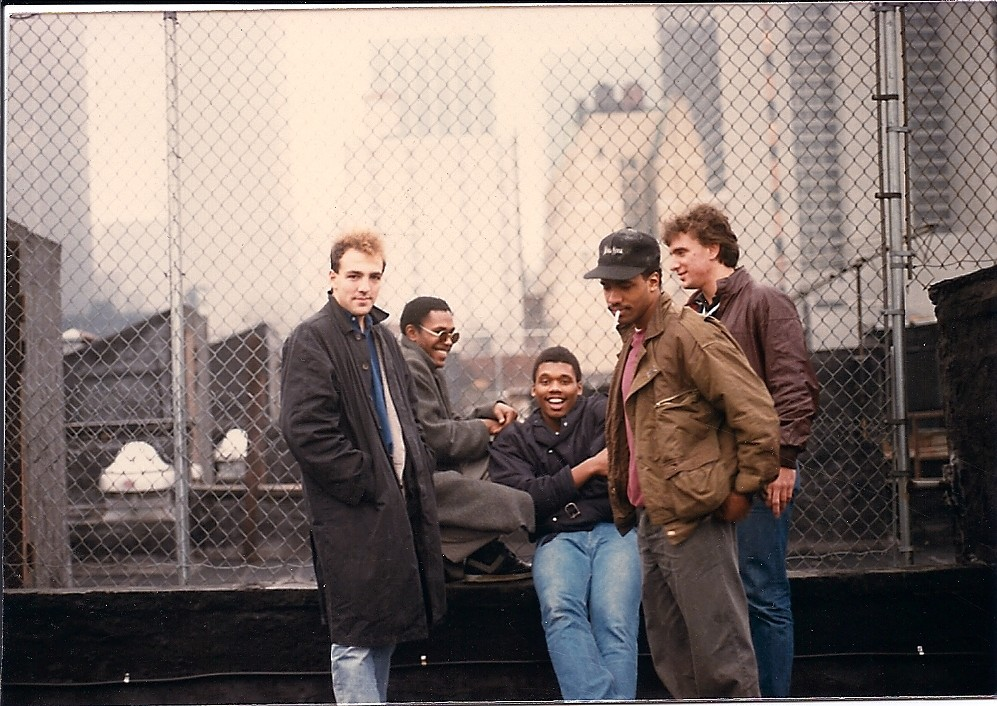 """""""This picture was taken Thanksgiving weekend, 1985. In the time before cellphones and instant access, a group of college friends independently, coincidentally, descended upon the city to visit a mutual friend. Six months later, I moved into the very same building and began my career as a New Yorker."""" - Philip Mondello"""