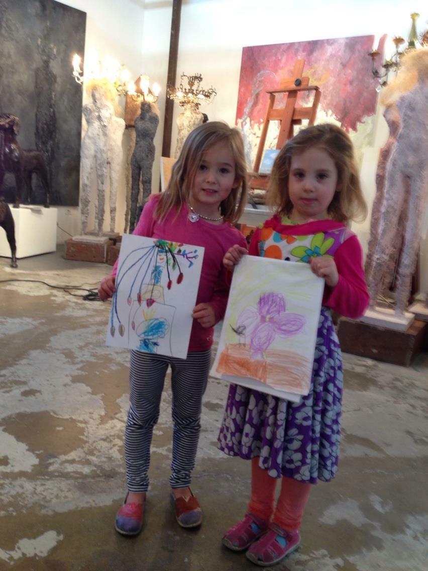 47 kids with art.JPG