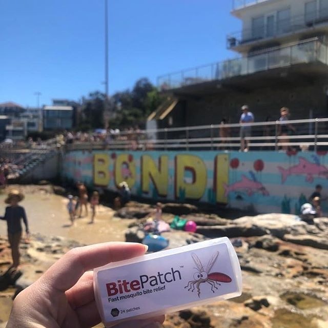 Summer is here! Australia has great beaches....and huge mozzies! Bitepatch is your chemical free relief from the itch of insect bites. Stays on in the water and aerodynamic enough to beat the sharks. Don't scratch it.  Patch it! #bondi #chemicalfree #bitepatch #midgebites #mosquito #mosquitobites #mosquitobitesfordays #sandflybites #summervibes #summer #beachlife #insectbiterelief #insectbites