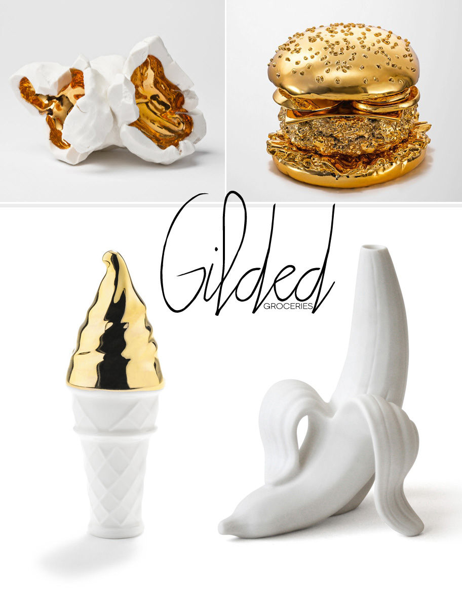 Dine X Design | Porcelain And Gold Food Objects