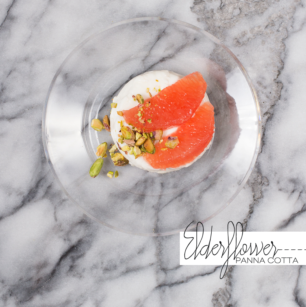 Dine X Design | Elderflower Panna Cotta