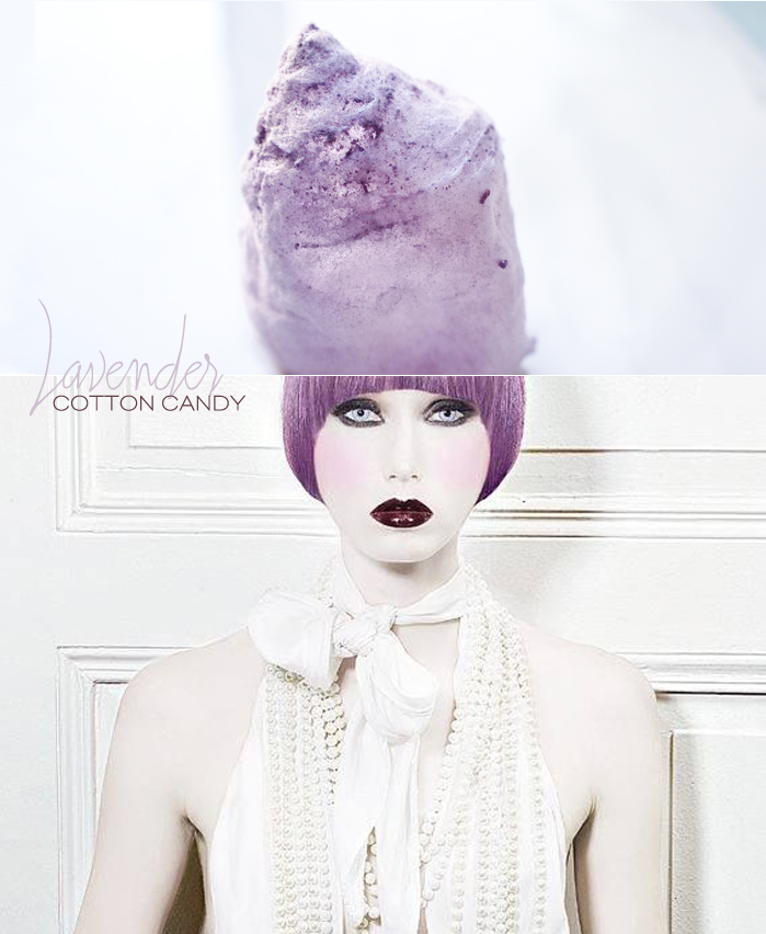 Dine X Design | Lavender Cotton Candy Inspired By Current Hair Trends