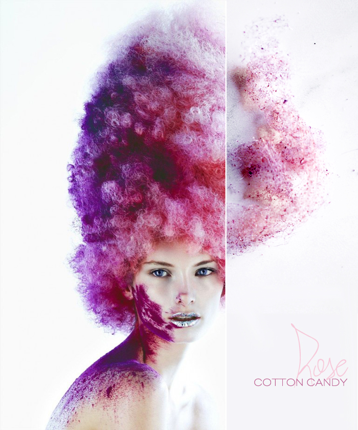 Dine X Design | Rose Cotton Candy Recipe Inspired By Hair Trends