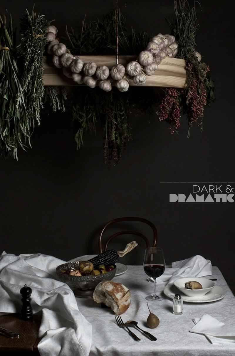 Dine X Design | Styling Trend Dark and Dramatic