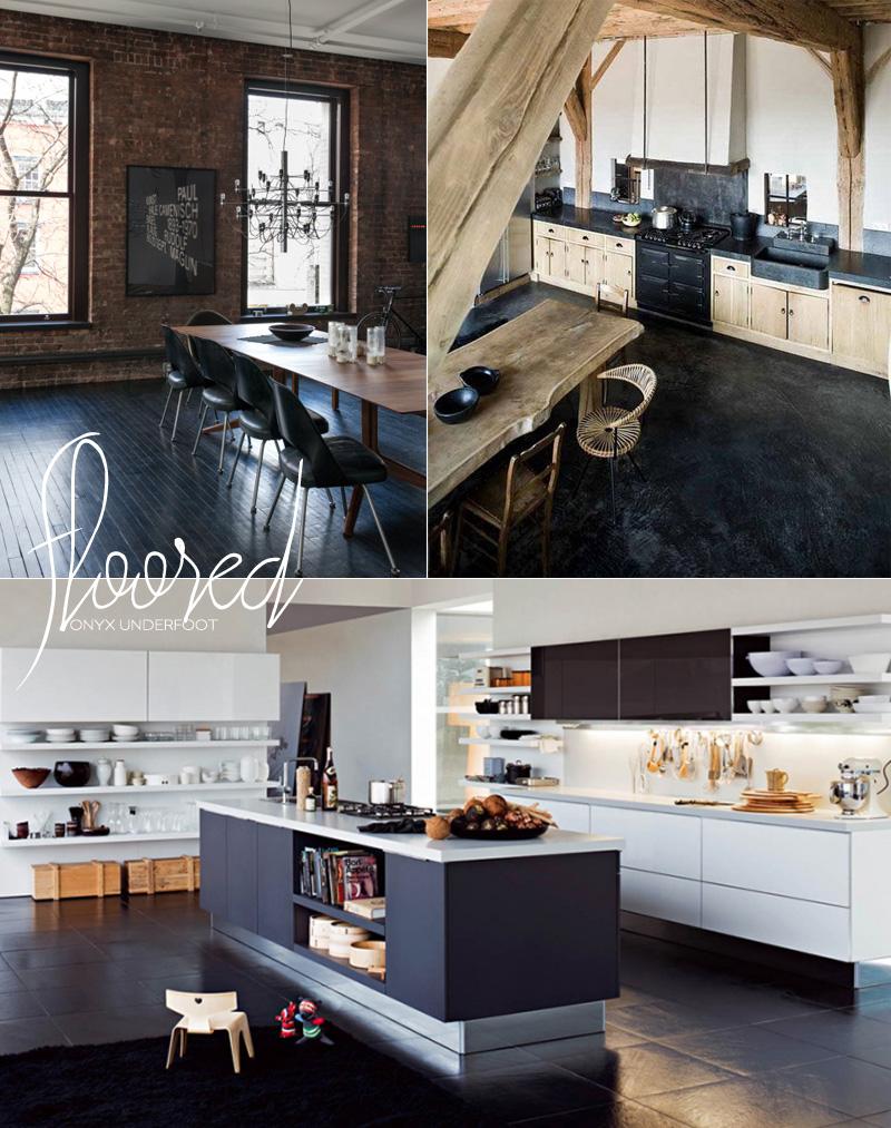 Dine X Design | Black Floors Kitchen And Dining Room