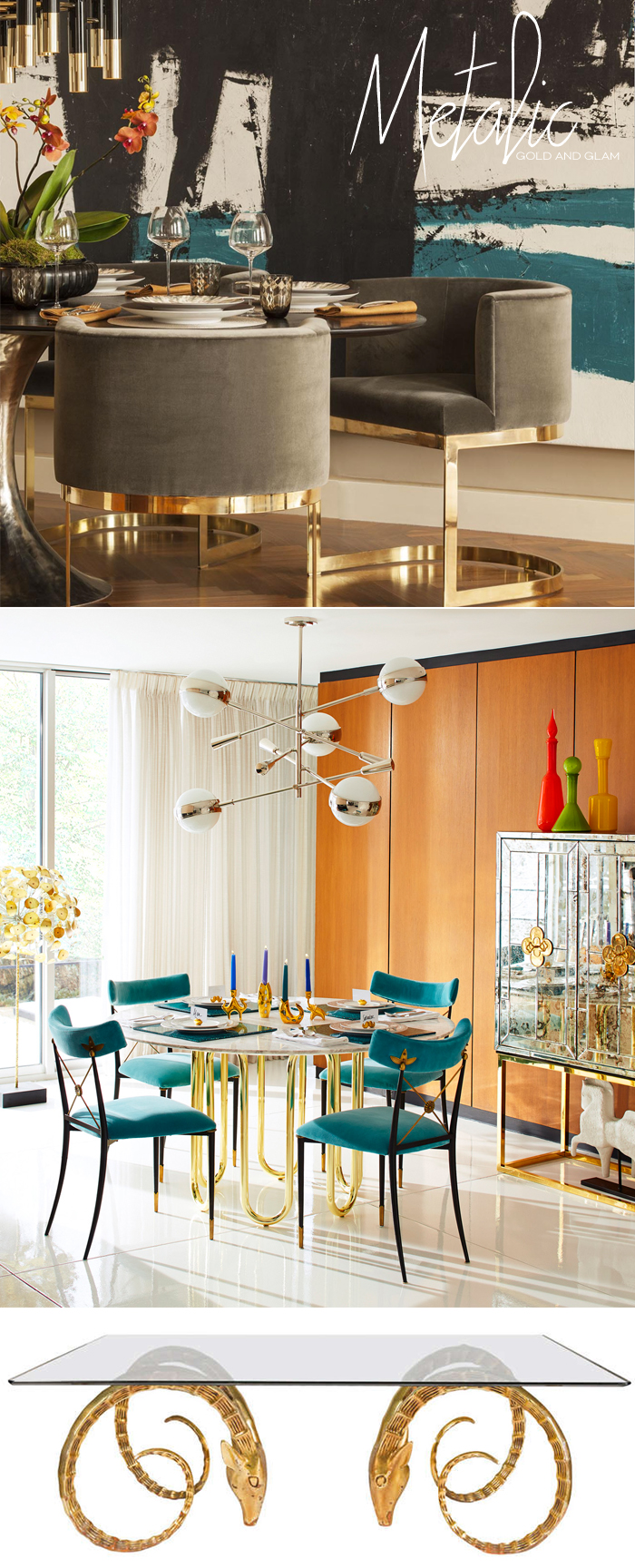 Gold Dining Tables | Dine X Design